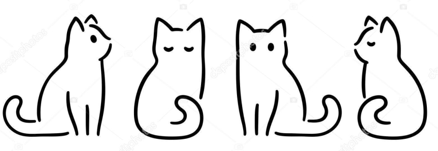 Minimal cat drawing