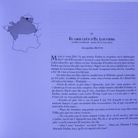 El gris leûp d'El Louviére, contribution de Jacqueline à l'ouvrage collectif, Voyage en Oïlie